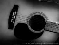 While my guitar...